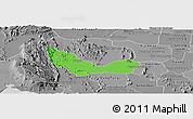 Political Panoramic Map of Chhouk, desaturated