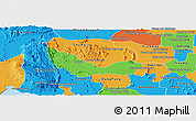Political Panoramic Map of Chhouk