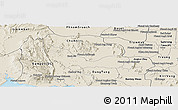 Shaded Relief Panoramic Map of Chhouk