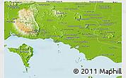 Physical Panoramic Map of Kampot