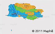 Political Panoramic Map of Kampot, cropped outside