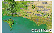 Satellite Panoramic Map of Kampot