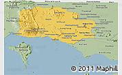 Savanna Style Panoramic Map of Kampot