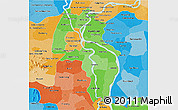 Political Shades 3D Map of Kandal