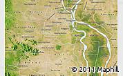Satellite Map of Kandal Stung