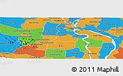 Political Panoramic Map of Kandal Stung