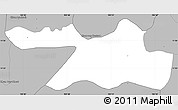 Gray Simple Map of Kandal Stung