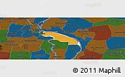 Political Panoramic Map of Kean Svey, darken