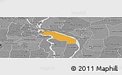 Political Panoramic Map of Kean Svey, desaturated