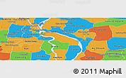 Political Panoramic Map of Kean Svey