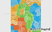 Political Shades Map of Kandal
