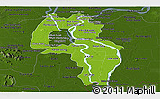 Physical Panoramic Map of Kandal, darken