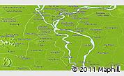 Physical Panoramic Map of Kandal