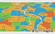Political Panoramic Map of Kandal