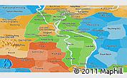 Political Shades Panoramic Map of Kandal