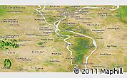 Satellite Panoramic Map of Kandal