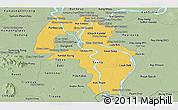 Savanna Style Panoramic Map of Kandal