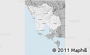 Gray 3D Map of Koh Kong