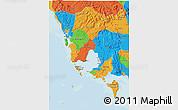 Political 3D Map of Koh Kong