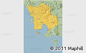Savanna Style 3D Map of Koh Kong
