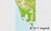 Physical Map of Koh Kong