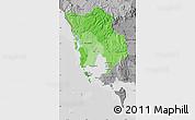 Political Shades Map of Koh Kong, desaturated