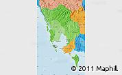 Political Shades Map of Koh Kong