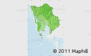 Political Shades Map of Koh Kong, single color outside