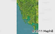 Satellite Map of Koh Kong