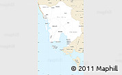Classic Style Simple Map of Koh Kong