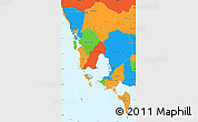 Political Simple Map of Koh Kong