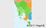 Political Shades Simple Map of Koh Kong