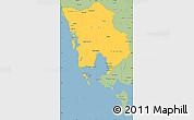 Savanna Style Simple Map of Koh Kong