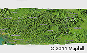 Satellite Panoramic Map of Thmar Baing