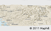 Shaded Relief Panoramic Map of Thmar Baing