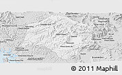 Silver Style Panoramic Map of Thmar Baing