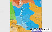 Political Shades 3D Map of Kratie