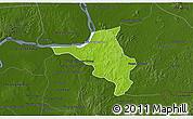 Physical 3D Map of Chlong, darken