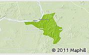 Physical 3D Map of Chlong, lighten
