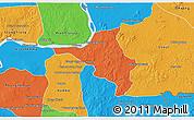 Political 3D Map of Chlong