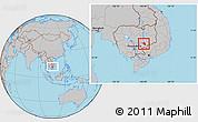 Gray Location Map of Chlong