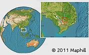 Satellite Location Map of Chlong