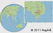 Savanna Style Location Map of Chlong