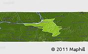 Physical Panoramic Map of Chlong, darken