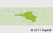 Physical Panoramic Map of Chlong, lighten