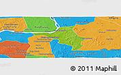 Physical Panoramic Map of Chlong, political outside