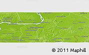 Physical Panoramic Map of Chlong