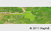 Physical Panoramic Map of Chlong, satellite outside