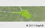Physical Panoramic Map of Chlong, semi-desaturated