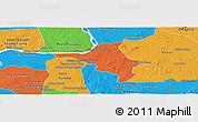 Political Panoramic Map of Chlong